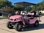 pink golf cart,ezgo,club car,golf cart,dynamic,dynamic carts,gvx,linhai,cazador