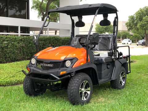 gas golf cart,golf cart,cazador,dynamic ,bighorn,orange,lsv