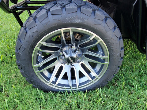 Hulk custom wheel and tire set