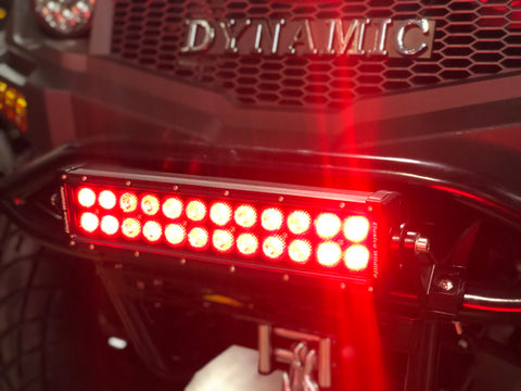 Hunting blackout LED red light bar