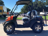 dynamic carts,dynamic golf cart LSV,orange golf cart