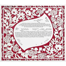 Load image into Gallery viewer, Lilac Ketubah Burgundy