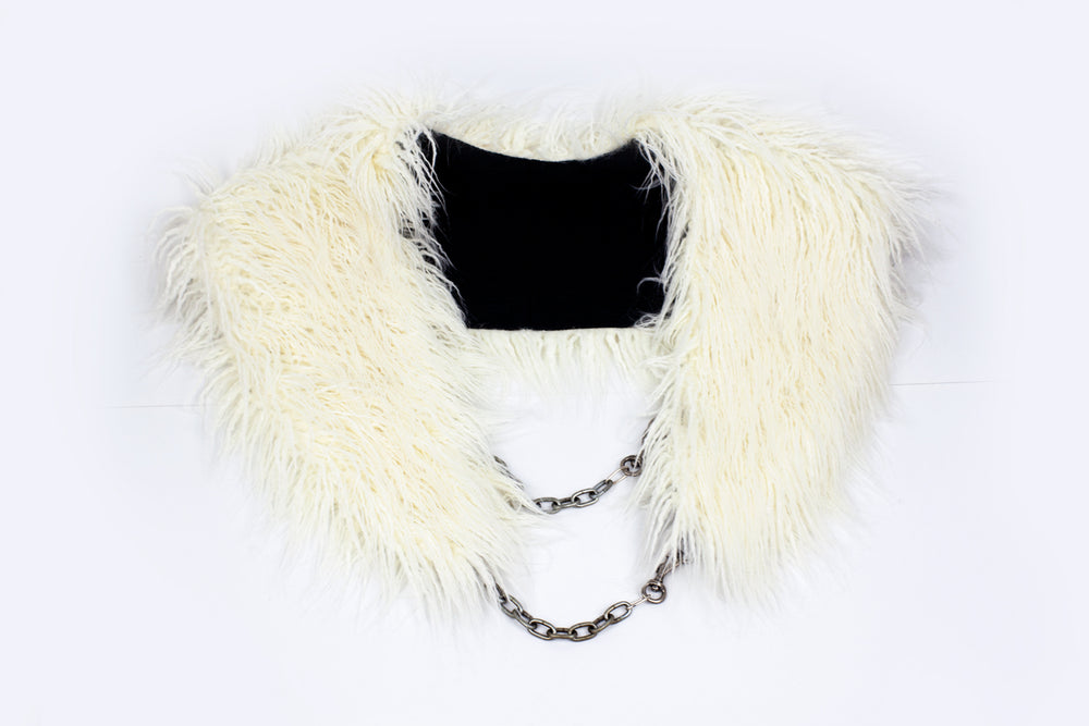 Faux Fur Stole (black, white, leopard, tiger)