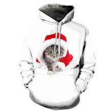 Load image into Gallery viewer, Santa Kitty Pullover Hoodie