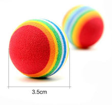 Load image into Gallery viewer, Kitten Soft Foam Rainbow Balls - Size - JBCoolCats