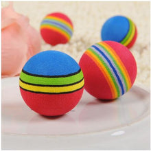 Load image into Gallery viewer, Kitten Soft Foam Rainbow Balls -Multi Balls - JBCoolCats