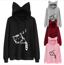 Load image into Gallery viewer, Long Sleeve Cat Hoodie - Clothing - JBCoolCats