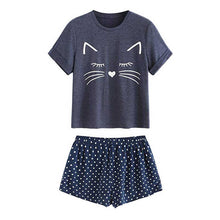 Load image into Gallery viewer, Adorable Kitty Cat Sleepwear - Navy - JBCoolCats
