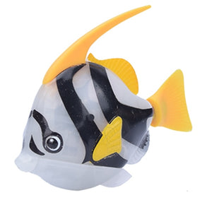 Robofish Battery-Powered Fish Cat Toy - Angelfish Grey - JBCoolCats