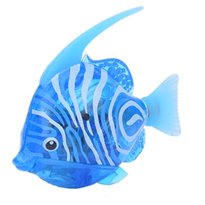 Robofish Battery-Powered Fish Cat Toy - Angelfish Light Blue - JBCoolCats