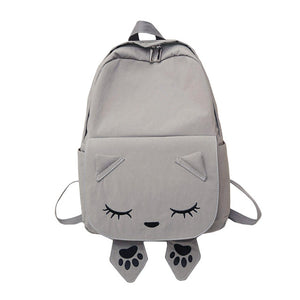 Cat Themed Backpacks - Grey - JBCoolCats