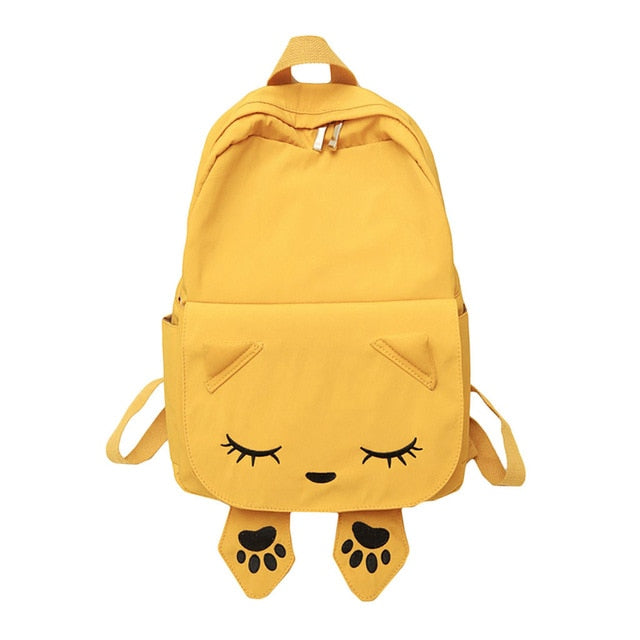 Cat Themed Backpacks - Yellow - JBCoolCats