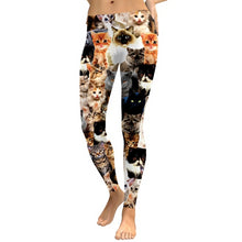 Load image into Gallery viewer, Cat Print Workout Leggings - Clothing - JBCoolCats