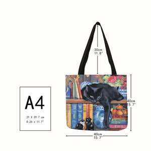 Traveling Kitty Tote 2 - Size - JBCoolCats