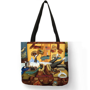 Traveling Kitty Tote 2 - Accessory 05 - JBCoolCats