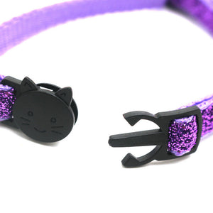 Sequin Cat Collar with Bell - Feature - JBCoolCats