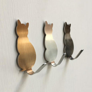 Adorable Self-Adhesive Cat Hooks - Alt View - JBCoolCats