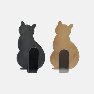 Adorable Self-Adhesive Cat Hooks - Black & Gold- JBCoolCats