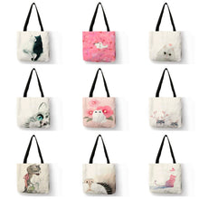 Load image into Gallery viewer, Cute Watercolor Painted Cat Tote | Accessory | JBCoolCats