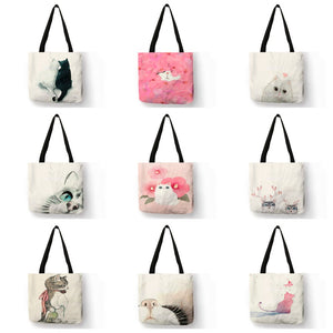 Cute Watercolor Painted Cat Tote | Accessory | JBCoolCats