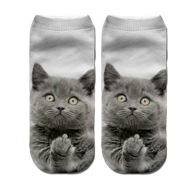 3D Funny Cute Cartoon Kitten Socks - Clothing - JBCoolCats