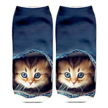 Load image into Gallery viewer, 3D Funny Cute Cartoon Kitten Socks - Hiding - JBCoolCats
