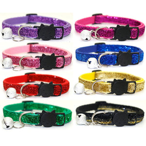 Sequin Cat Collar with Bell - Accessory - JBCoolCats