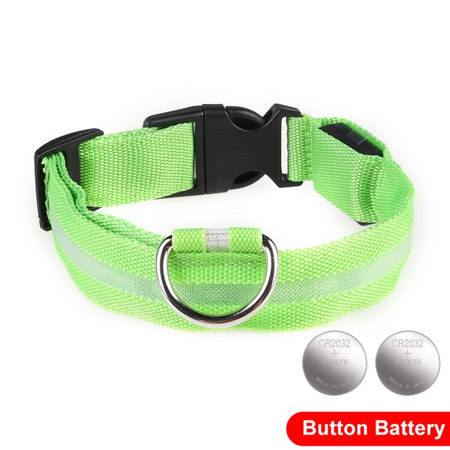 LED Glow In The Dark Cat Collar - Green - JBCoolCats