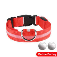 Load image into Gallery viewer, LED Glow In The Dark Cat Collar - Red - JBCoolCats