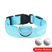 Load image into Gallery viewer, LED Glow In The Dark Cat Collar - Blue - JBCoolCats