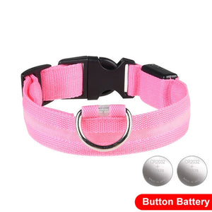LED Glow In The Dark Cat Collar - Pink - JBCoolCats