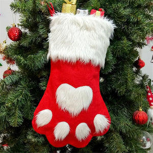 Cute Cat Paw Stocking - Red - JBCoolCats