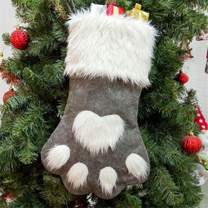 Cute Cat Paw Stocking - Grey - JBCoolCats