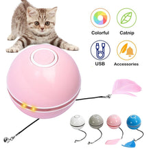 Load image into Gallery viewer, Colorful LED Rotating Ball with Catnip - Cat Toys - JBCoolCats