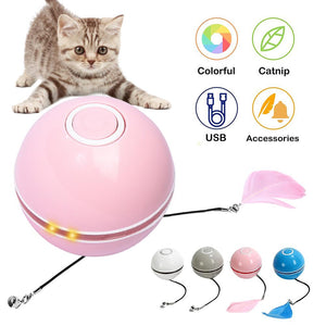 Colorful LED Rotating Ball with Catnip - Cat Toys - JBCoolCats