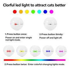 Load image into Gallery viewer, Colorful LED Rotating Ball with Catnip - Light Options- JBCoolCats