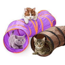 "Load image into Gallery viewer, Fun ""S"" Cat Play Tunnel - Cat Toys - JBCoolCats"