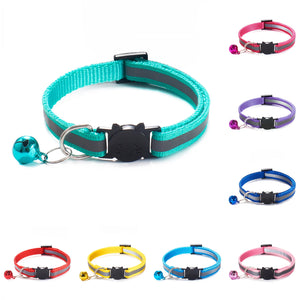 Colorful Nylon Reflective Cat Collar - Accessory - JBCoolCats