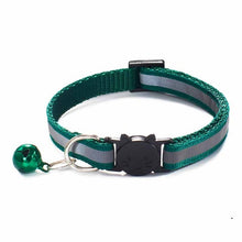 Load image into Gallery viewer, Colorful Nylon Reflective Cat Collar - Teal  - JBCoolCats
