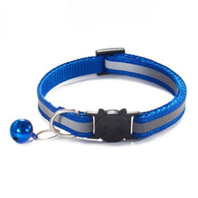 Load image into Gallery viewer, Colorful Nylon Reflective Cat Collar - Royal Blue - JBCoolCats