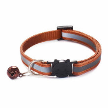 Load image into Gallery viewer, Colorful Nylon Reflective Cat Collar - Copper - JBCoolCats