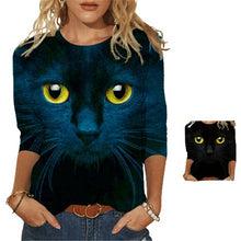 Load image into Gallery viewer, Cat Eyes Long Sleeve T-Shirt - Clothing - JBCoolCats