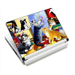 Adorable Kitty Cat Laptop Skins - Artistic Kitties - JBCoolCats