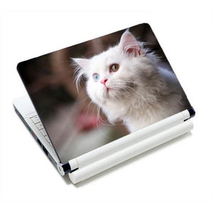 Adorable Kitty Cat Laptop Skins - White Kitty - JBCoolCats