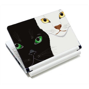 Adorable Kitty Cat Laptop Skins - Black & White Kitties - JBCoolCats