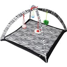 Load image into Gallery viewer, Mobile Activity Cat Play Bed - Zebra - JBCoolCats