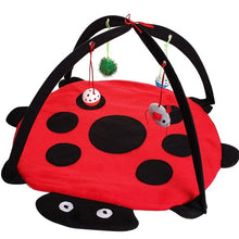 Load image into Gallery viewer, Mobile Activity Cat Play Bed - Ladybug - JBCoolCats