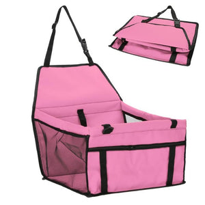 Folding Safety Pet Car Seat Carriers - Pink - JBCoolCats