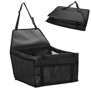 Folding Safety Pet Car Seat Carriers - Black - JBCoolCats