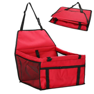 Folding Safety Pet Car Seat Carriers - Red - JBCoolCats